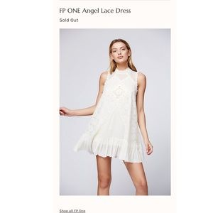 Free People Angel White Lace Shift Dress